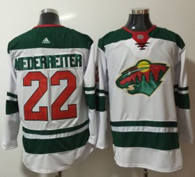 Wholesale Cheap Adidas Wild #22 Nino Niederreiter White Road Authentic Stitched NHL Jersey