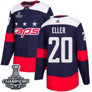 Wholesale Cheap Adidas Capitals #20 Lars Eller Navy Authentic 2018 Stadium Series Stanley Cup Final Champions Stitched NHL Jersey