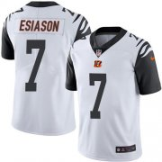 Wholesale Cheap Nike Bengals #7 Boomer Esiason White Youth Stitched NFL Limited Rush Jersey