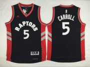 Wholesale Cheap Men's Toronto Raptors #5 DeMarre Carroll Revolution 30 Swingman 2014 New Black Jersey