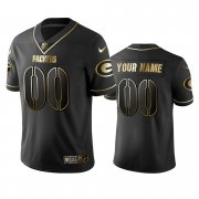 Wholesale Cheap Packers Custom Men's Stitched NFL Vapor Untouchable Limited Black Golden Jersey
