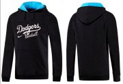 Wholesale Cheap Los Angeles Dodgers Pullover Hoodie Black & Blue