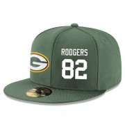 Wholesale Cheap Green Bay Packers #82 Richard Rodgers Snapback Cap NFL Player Green with White Number Stitched Hat