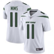 Wholesale Cheap Nike Jets #11 Denzel Mim White Youth Stitched NFL Vapor Untouchable Limited Jersey