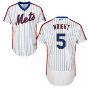Wholesale Mets #5 David Wright White(Blue Strip) Flexbase Authentic Collection Alternate Stitched Baseball Jersey