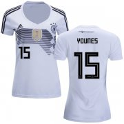 Wholesale Cheap Women's Germany #15 Younes White Home Soccer Country Jersey
