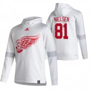 Wholesale Cheap Detroit Red Wings #81 Frans Nielsen Adidas Reverse Retro Pullover Hoodie White