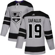 Wholesale Cheap Adidas Kings #19 Alex Iafallo Gray Alternate Authentic Stitched NHL Jersey