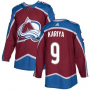 Wholesale Cheap Adidas Avalanche #9 Paul Kariya Burgundy Home Authentic Stitched NHL Jersey