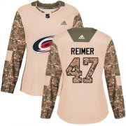 Wholesale Cheap Adidas Hurricanes #47 James Reimer Camo Authentic 2017 Veterans Day Women's Stitched NHL Jersey