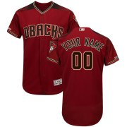 Wholesale Cheap Arizona Diamondbacks Majestic Alternate Flex Base Authentic Collection Custom Jersey Red