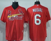 Wholesale Cheap Cardinals #6 Stan Musial Red New Cool Base Stitched MLB Jersey