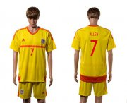 Wholesale Cheap Wales #7 Allen Away Soccer Country Jersey