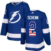 Cheap Adidas Lightning #2 Luke Schenn Blue Home Authentic USA Flag Youth Stitched NHL Jersey