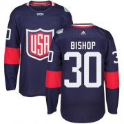 Wholesale Cheap Team USA #30 Ben Bishop Navy Blue 2016 World Cup Stitched Youth NHL Jersey