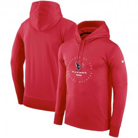 Wholesale Cheap Houston Texans Nike Sideline Property Of Wordmark Logo Performance Pullover Hoodie Red