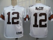 Wholesale Cheap Browns #12 Colt McCoy White Stitched NFL Jersey