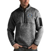 Wholesale Cheap Pittsburgh Penguins Antigua Fortune Quarter-Zip Pullover Jacket Charcoal