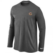 Wholesale Cheap Nike Chicago Bears Sideline Legend Authentic Logo Long Sleeve T-Shirt Dark Grey