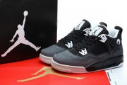 Wholesale Cheap Womens Air Jordan 4 Fear Pack Shoes Black/white