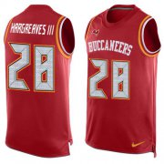 Wholesale Cheap Nike Buccaneers #28 Vernon Hargreaves III Red Team Color Men's Stitched NFL Limited Tank Top Jersey