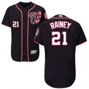 Wholesale Cheap Nationals #21 Tanner Rainey Navy Blue Flexbase Authentic Collection Stitched MLB Jersey
