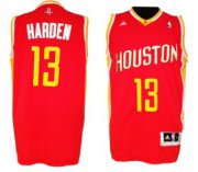 Wholesale Cheap Houston Rockets #13 James Harden Revolution 30 Swingman Red With Gold Jersey