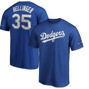 Wholesale Cheap Los Angeles Dodgers #35 Cody Bellinger Majestic 2019 Postseason Name & Number T-Shirt Royal