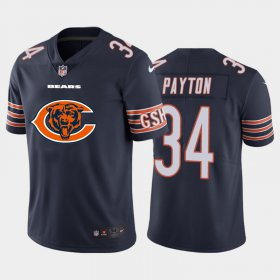 Wholesale Cheap Chicago Bears #34 Walter Payton Navy Blue Men\'s Nike Big Team Logo Vapor Limited NFL Jersey