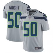 Wholesale Cheap Nike Seahawks #50 K.J. Wright Grey Alternate Men's Stitched NFL Vapor Untouchable Limited Jersey