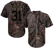 Wholesale Cheap Yankees #31 Aaron Hicks Camo Realtree Collection Cool Base Stitched MLB Jersey