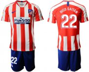Wholesale Cheap Atletico Madrid #22 Nico Gaitan Home Soccer Club Jersey