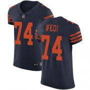 Wholesale Cheap Nike Bears #74 Germain Ifedi Navy Blue Alternate Men's Stitched NFL Vapor Untouchable Elite Jersey