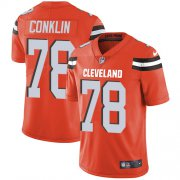 Wholesale Cheap Nike Browns #78 Jack Conklin Orange Alternate Men's Stitched NFL Vapor Untouchable Limited Jersey