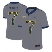 Wholesale Cheap West Virginia Mountaineers 7 Daryl Worley Gray Fashion College Football Jersey