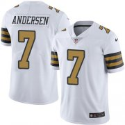 Wholesale Cheap Nike Saints #7 Morten Andersen White Men's Stitched NFL Limited Rush Jersey