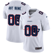 Wholesale Cheap New England Patriots Custom White Men's Nike Team Logo Dual Overlap Limited NFL Jersey