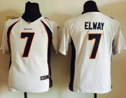 Wholesale Cheap Nike Broncos #7 John Elway White Youth Stitched NFL New Elite Jersey