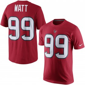 Wholesale Cheap Houston Texans #99 JJ Watt Nike Player Pride Name & Number T-Shirt Red