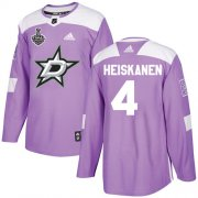 Cheap Adidas Stars #4 Miro Heiskanen Purple Authentic Fights Cancer Youth 2020 Stanley Cup Final Stitched NHL Jersey