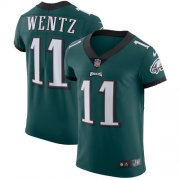 Wholesale Cheap Nike Eagles #11 Carson Wentz Midnight Green Team Color Men's Stitched NFL Vapor Untouchable Elite Jersey