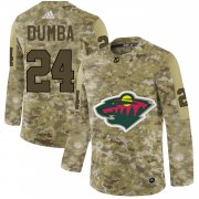 Wholesale Cheap Adidas Wild #24 Matt Dumba Camo Authentic Stitched NHL Jersey