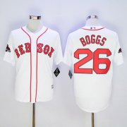 Wholesale Cheap Red Sox #26 Wade Boggs White New Cool Base 2018 World Series Champions Stitched MLB Jersey