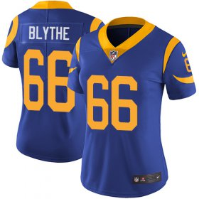 Wholesale Cheap Nike Rams #66 Austin Blythe Royal Blue Alternate Women\'s Stitched NFL Vapor Untouchable Limited Jersey