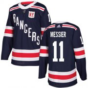 Wholesale Cheap Adidas Rangers #11 Mark Messier Navy Blue Authentic 2018 Winter Classic Stitched Youth NHL Jersey