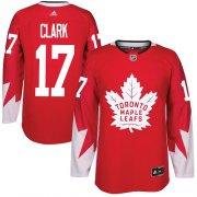 Wholesale Cheap Adidas Maple Leafs #17 Wendel Clark Red Team Canada Authentic Stitched NHL Jersey