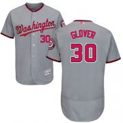 Wholesale Cheap Nationals #30 Koda Glover Grey Flexbase Authentic Collection Stitched MLB Jersey