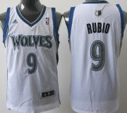 Wholesale Cheap Minnesota Timberwolves #9 Ricky Rubio White Swingman Jersey