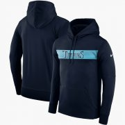 Wholesale Cheap Men's Tennessee Titans Nike Navy Sideline Team Performance Pullover Hoodie