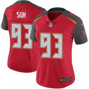 Wholesale Cheap Nike Buccaneers #93 Ndamukong Suh Red Team Color Women's Stitched NFL Vapor Untouchable Limited Jersey